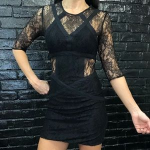 All Saints Black Lace Dress